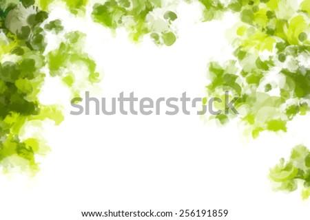 Green round brush strokes background. Vector version  - stock vector
