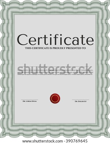 Sample Certificate Diploma Vector Certificate Template Stock