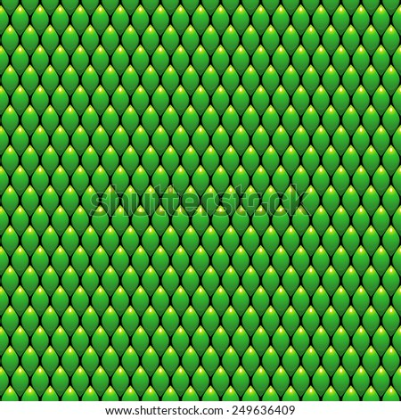Green Scales Seamless Pattern Background. Vector Illustration - stock vector
