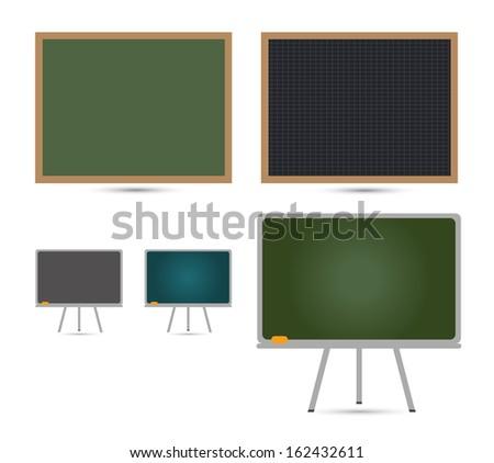 Green School Board - stock vector