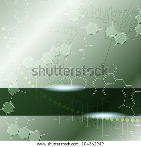 Green science background with transparencies (eps10); jpg version also available - stock vector