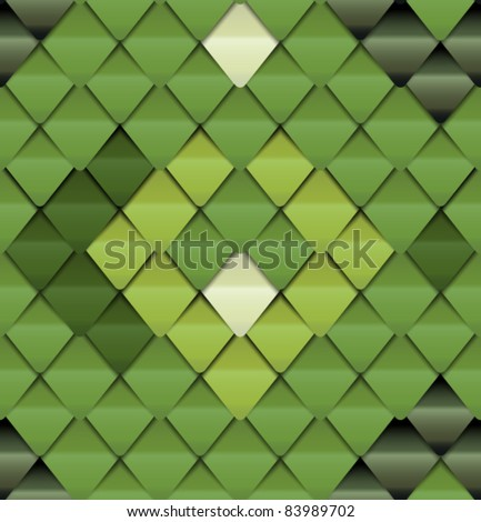 Green seamless pattern look like lizard skin - stock vector