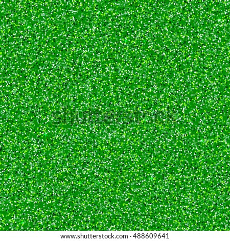 Green shimmer background imitation lime-green dust with shiny chartreuse grains. Glittering sequins club. Abstract  glitter pattern. Template design of round particles. Shining emerald confetti.