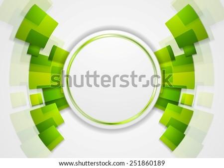 Green shiny hi-tech background. Vector design - stock vector