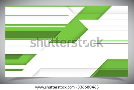 Green shiny hi-tech motion background. Vector design - stock vector