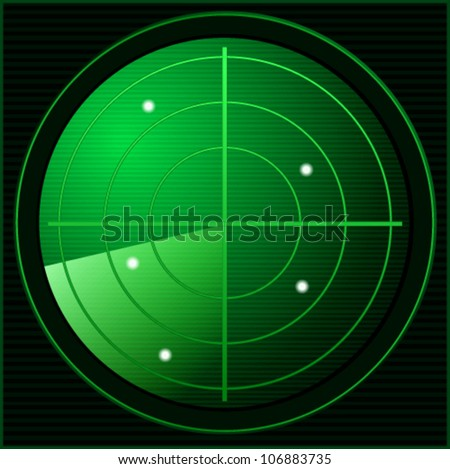Green Shiny Solar Icon - stock vector