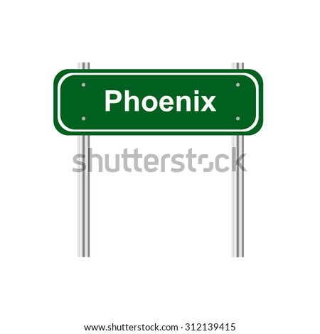 Green sign road Phoenix