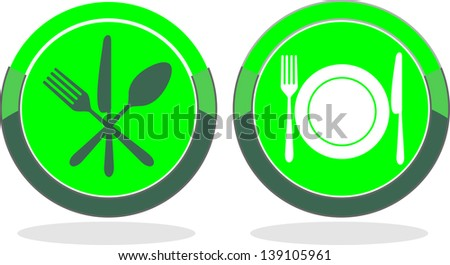 green silhouette vegetables food icon - stock vector