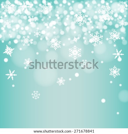 Green snow background vector - stock vector