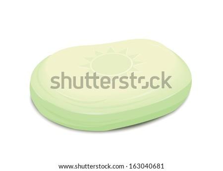 Green Soap - stock vector