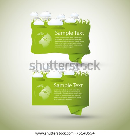 Green Speech Bubble - stock vector