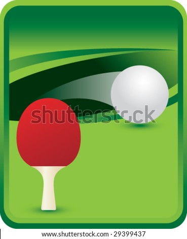 green sports message board with ping pong and paddle