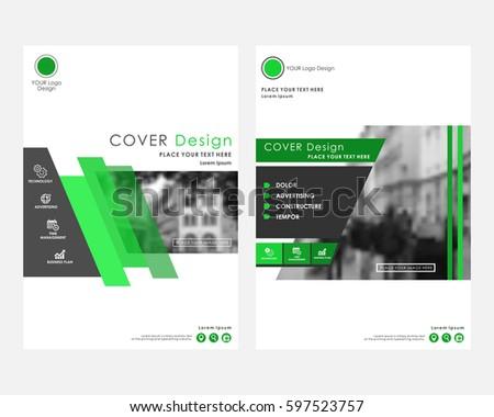 Green Square Annual Report Cover Design Stock Vector - Keynote brochure template