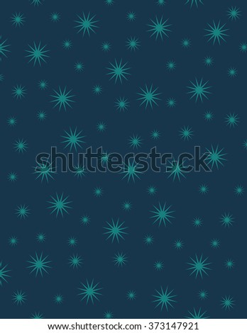 Green star pattern with over blue background - stock vector