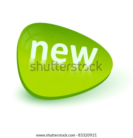 Green sticker -new - stock vector