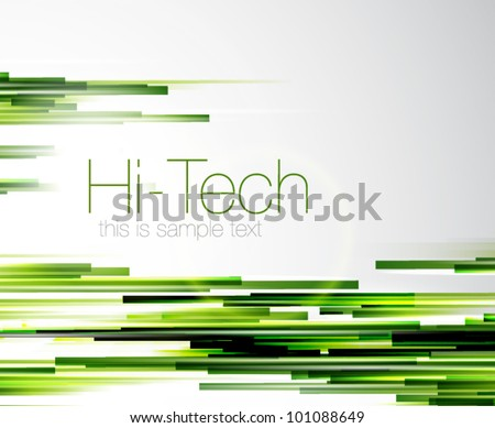 Green straight lines - stock vector