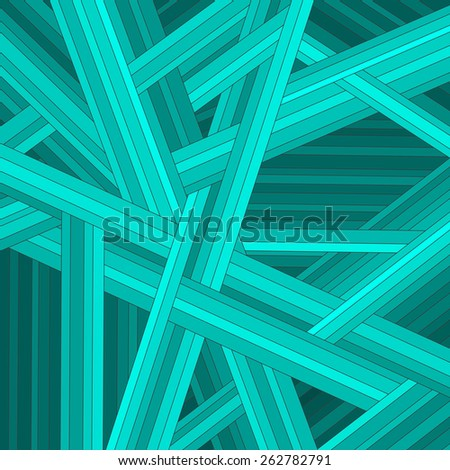 Green striped abstract background, vector eps10 illustration - stock vector