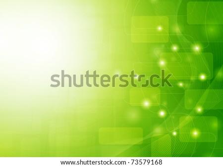 Green stylish fantasy background - stock vector