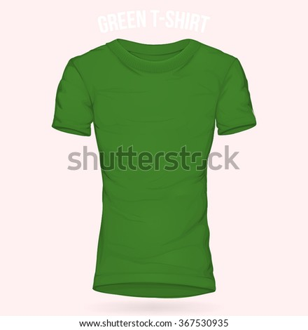 Green t-shirt Long template for woman