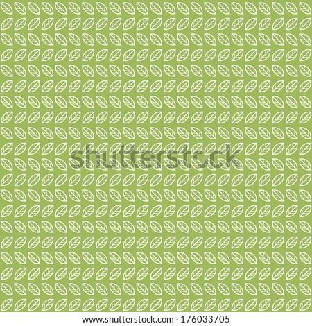 Green tea leaves pattern - stock vector