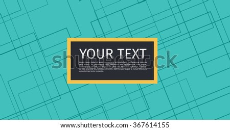 Green Technical Background with Copy space | EPS10 Vector - stock vector