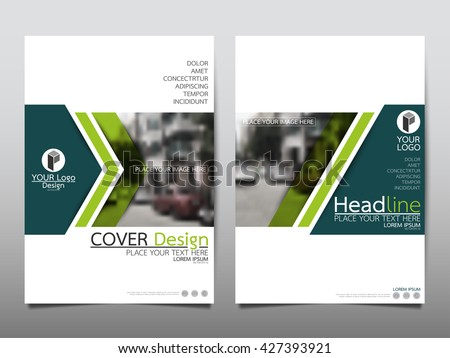 Green technology annual report brochure flyer design template vector, Leaflet cover presentation abstract geometric background, layout in A4 size - stock vector