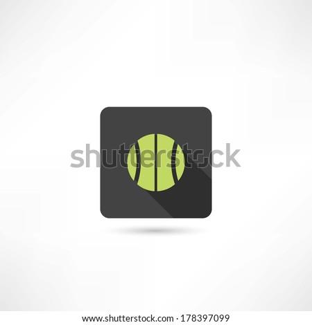 green tennis ball - stock vector