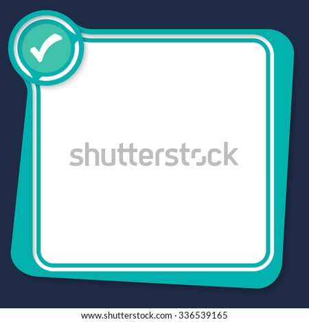 Green text box for your text with check box - stock vector