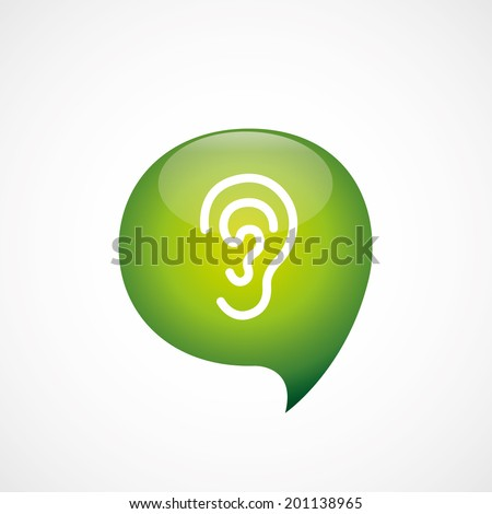 green think bubble ear icon