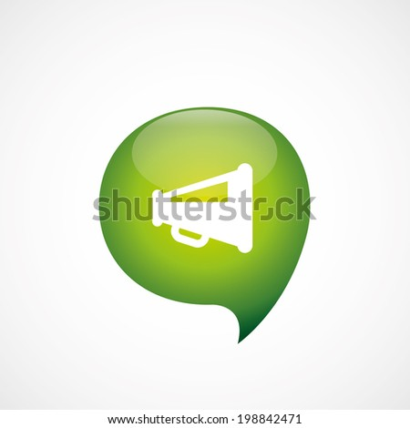 green think bubble speaker symbol - stock vector