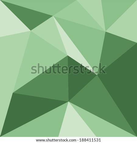 Green triangle vector background or pattern. Flat spring or summer surface wrapping geometric mosaic for fresh wallpaper or website design - stock vector