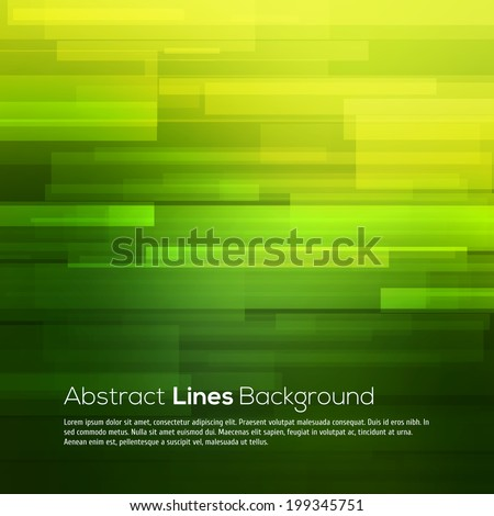 Green vector abstract background with lines - stock vector