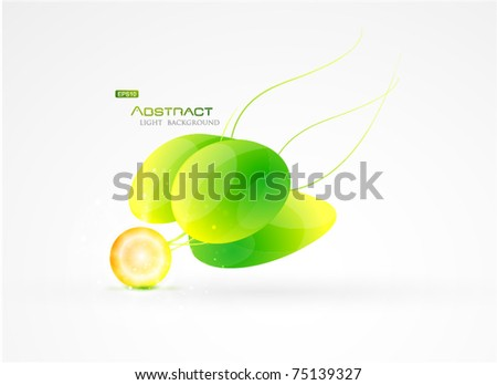 Green vector abstract floral background