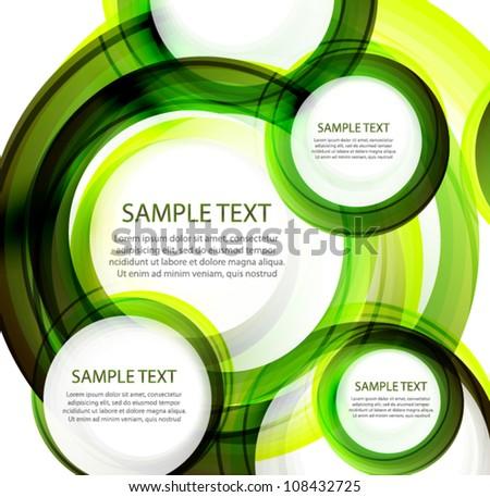 Green vector abstract swirl banner - stock vector