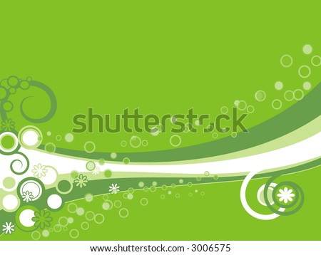 Green vector background - stock vector
