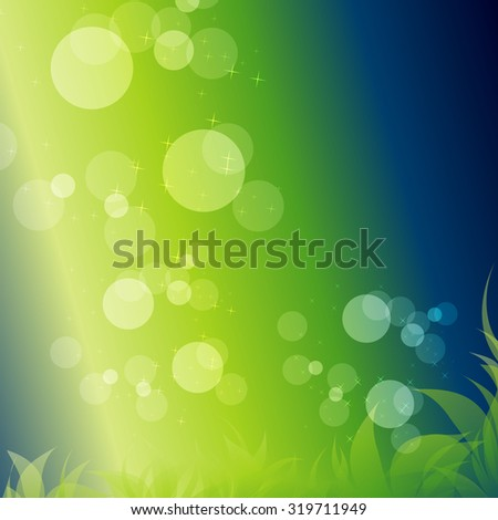 green vector background clean nature eco leaves