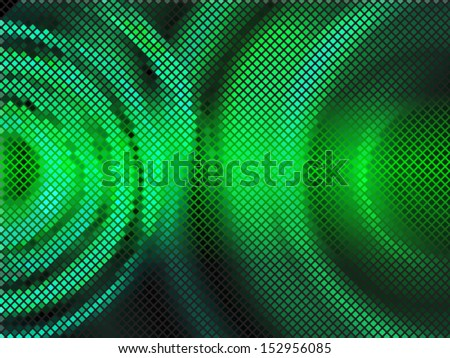 Green vector background mosaic with ligth. Vector illustration - stock vector