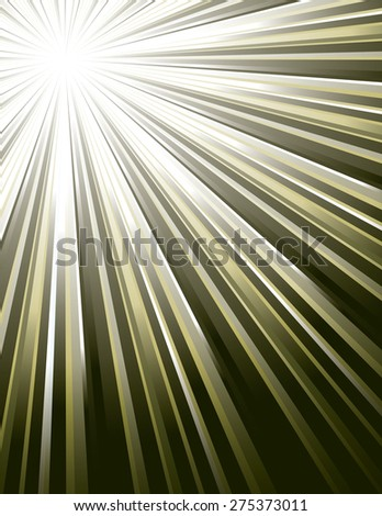 Green Vector Rays. Abstract Modern Background. - stock vector