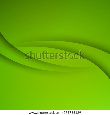 Green vector Template Abstract background with curves lines and shadow. For flyer, brochure, booklet and websites design. - stock vector