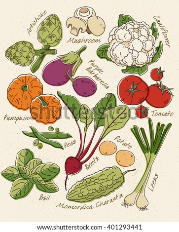 Green Vegetables_Vol. 2 - stock vector