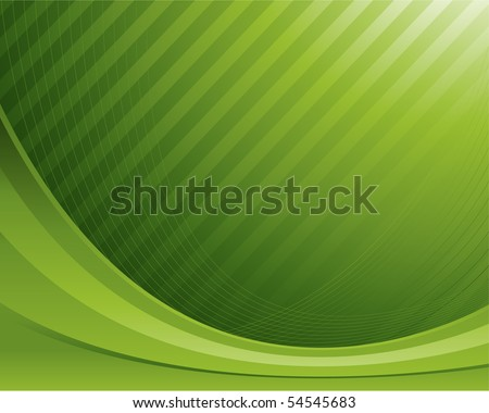 Green wave background - stock vector