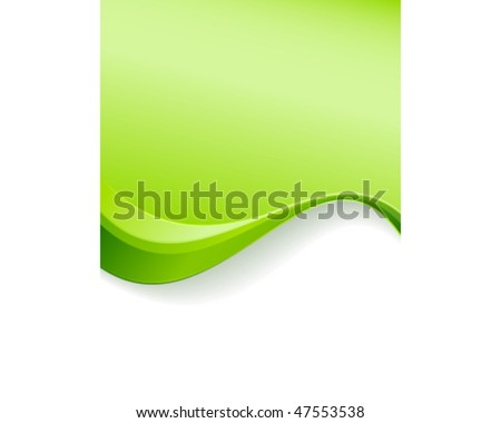 Green wave background template. Abstract background with copy space for text. Great for environment, nature or spring related topics. - stock vector