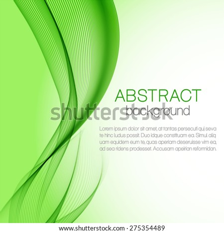 Green wavy background - stock vector