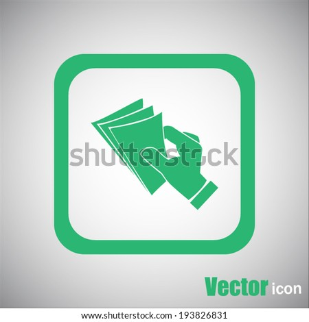 green web icon - stock vector