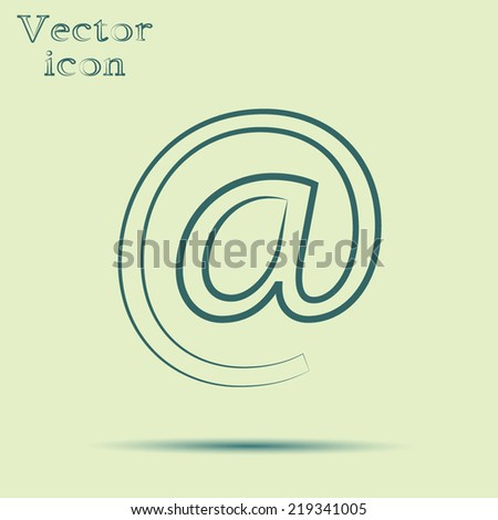 green web icon with shadow vector illustration  - stock vector