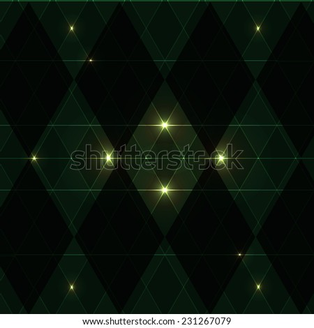 Green wink vintage pattern background, stock vector - stock vector