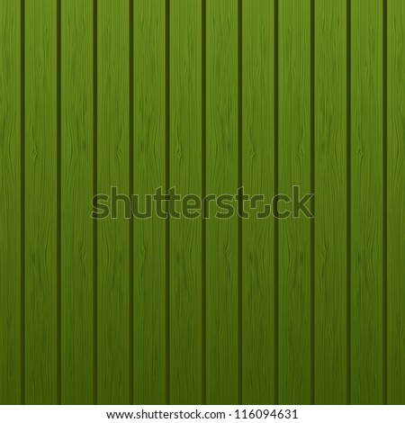 Green wooden background - stock vector