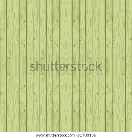 Green wooden background. Vector seamless boards. - stock vector