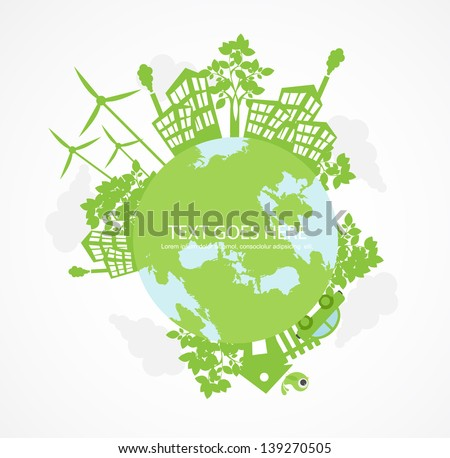 green world concept - stock vector