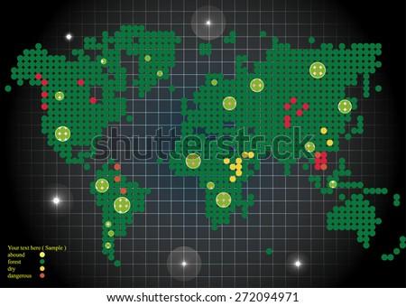 green world concept map   - stock vector